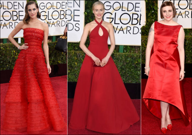 2015 golden globes red carpet dresses fashion red