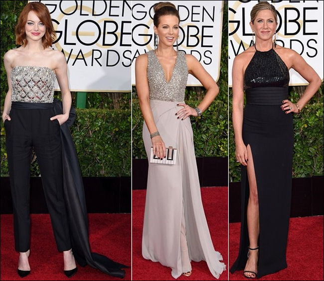 2015 golden globes red carpet dresses fashion sparkling