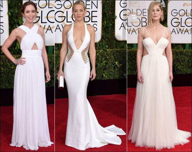 2015 golden globes red carpet dresses fashion white