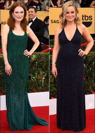 2015 sag awards red carpet dresses beaded