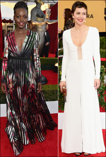 2015 sag awards red carpet dresses long sleeves