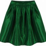green metallic skirt chicnova