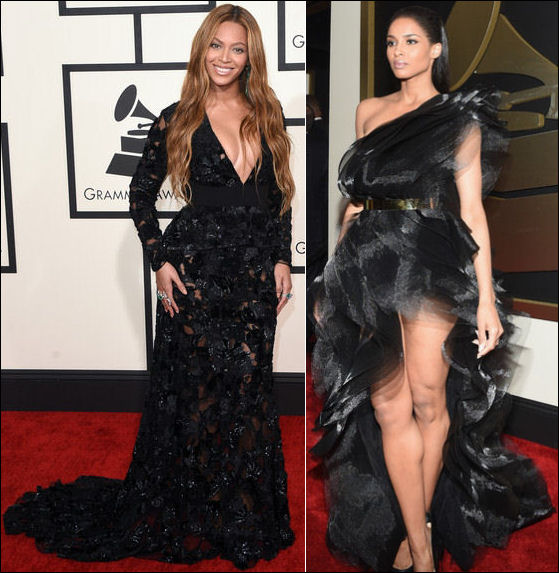 2015 grammys red carpet dresses beyonce ciara