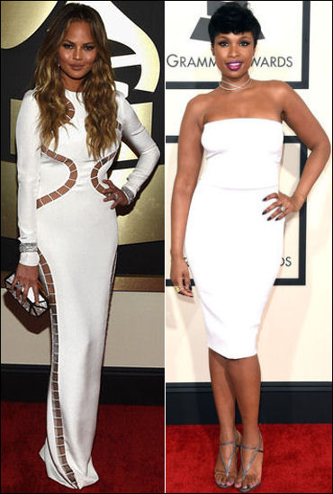 2015 grammys red carpet fashion dresses white chrissy tiegen jennifer hudson