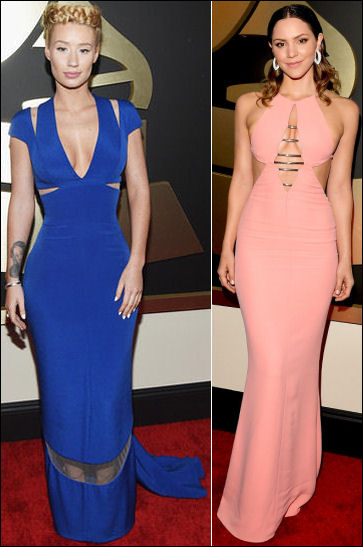 2015 grammys red carpet fashion iggy azalea katharine mcphee