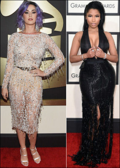 2015 grammys red carpet fashion dresses katy perry nicki minaj