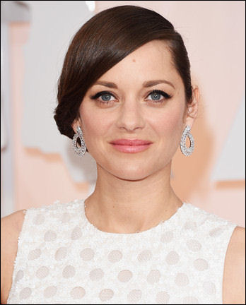 2015 oscar awards hair makeup marion cotillard