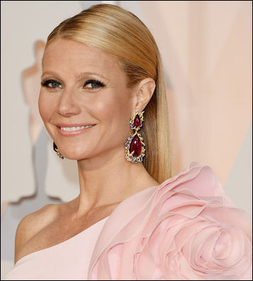 2015 oscar awards hairstyle gwyneth paltrow