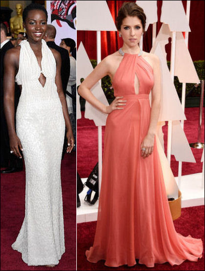 2015 oscar awards red carpet dresses fashion keyhole halter gowns