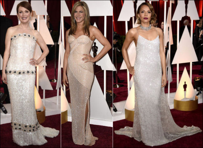2015 oscar awards red carpet dresses fashion shimmery gowns