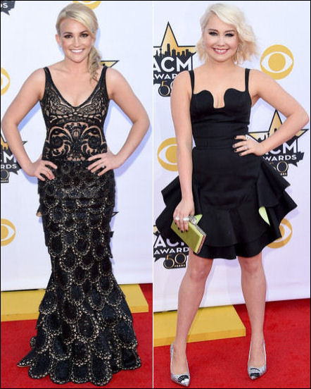 2015 acm awards red carpet fashions dresses black