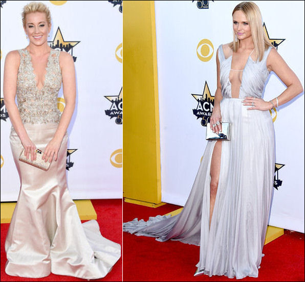 2015 acm awards red carpet dresses plunging