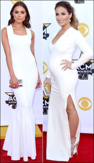2015 acm awards red carpet fashion dresses