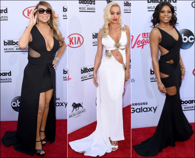 2015 billboard music awards red carpet dresses cut-outs