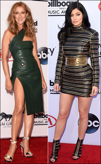 2015 billboard music awards red carpet dresses leather