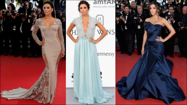 2015 cannes red carpet dresses EVA LONGORIA