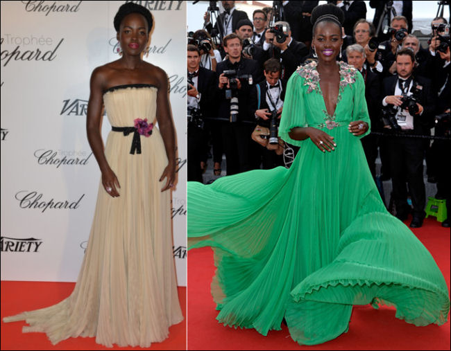 2015 cannes red carpet style LUPITA NYONGO