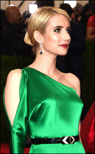 2015 met gala ball beauty hairstyles emma roberts
