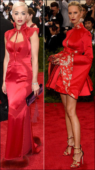 2015 met gala red carpet dresses rita karolina