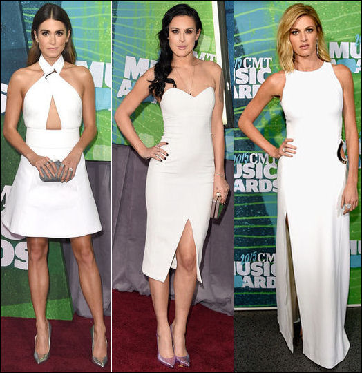 2015 cmt music awards red carpet dresses white