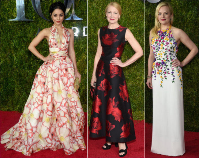 2015 tony awards red carpet dresses FLORALS