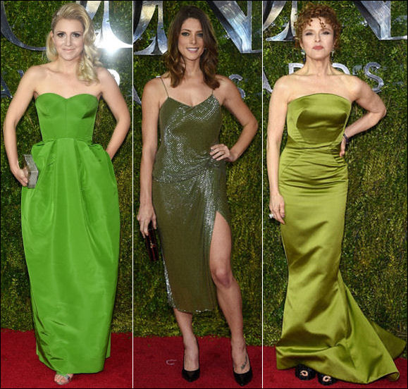 2015 tony awards red carpet dresses GREEN