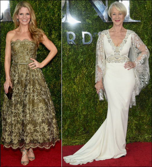 2015 tony awards red carpet dresses LACE