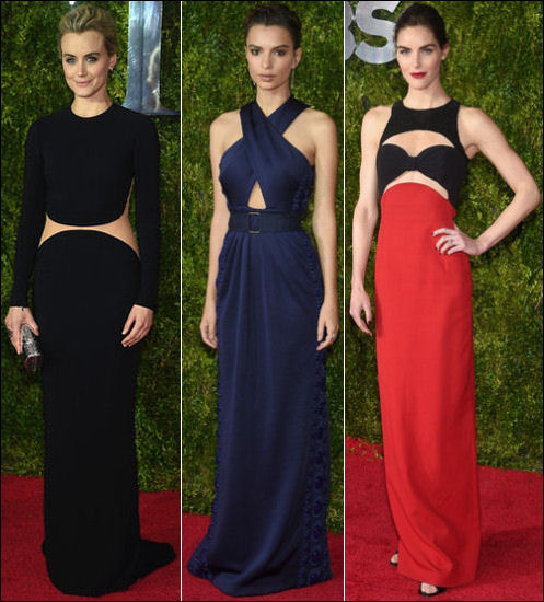 2015 tony awards red carpet dresses PEEKABOO