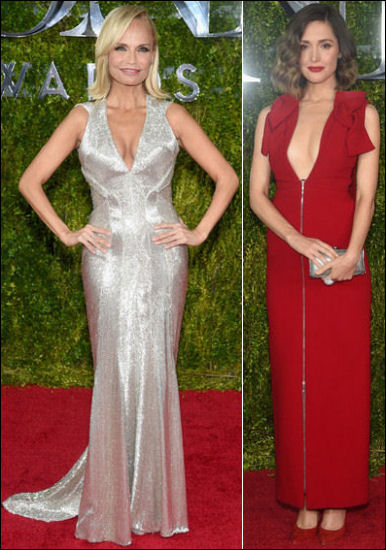 2015 tony awards red carpet dresses PLUNGING
