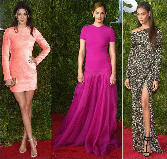 2015 tony awards red carpet dresses SLEEVES