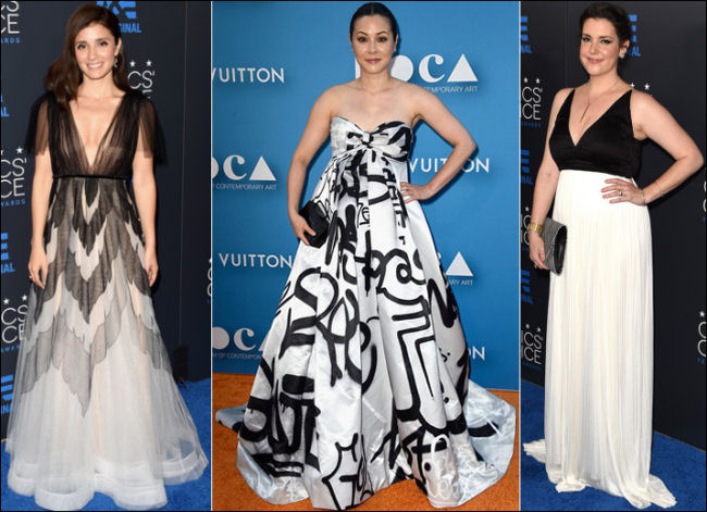 black and white dresses red carpet