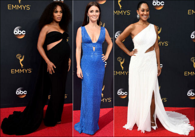 2016 Emmys red carpet dresses cut-outs