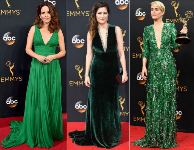 2016 Emmys red carpet dresses green
