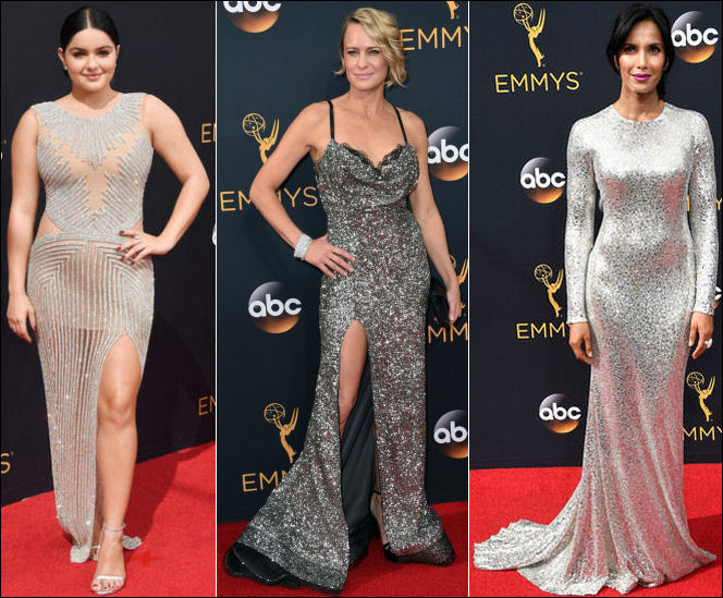2016 Emmys red carpet dresses silver