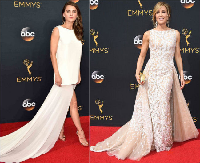 2016 Emmys red carpet white gowns