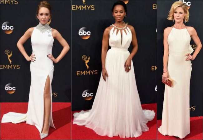 2016 Emmys red carpet dresses white
