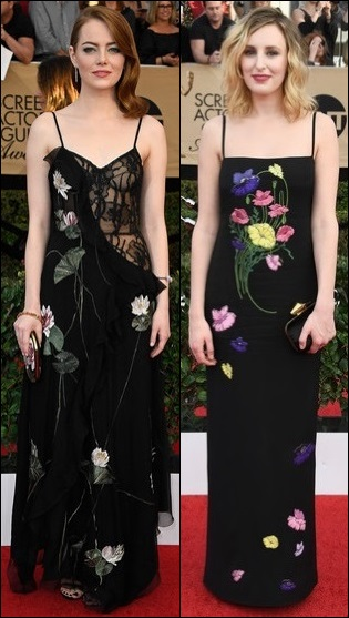 2017-sag-red-carpet-dresses-flower-print-emma-stone