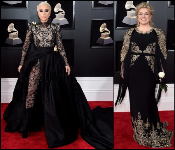 2018-GRAMMYS-red-carpet-dresses-lady-gaga-kelly-clarkson
