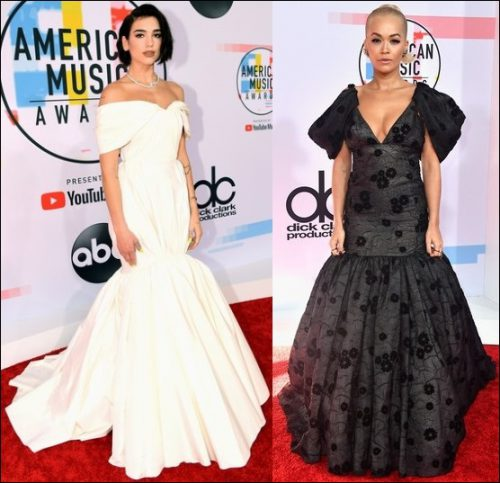 2018-AMERICAN-MUSIC-AWARDS-red-carpet-dresses-dua-lipa-rita-ora