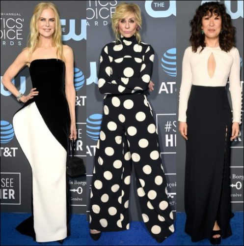 2019-critics-choice-red-carpet-fashion-BLACK-WHITE