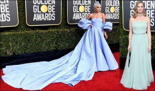 2019 golden globes red carpet dresses LIGHT BLUE