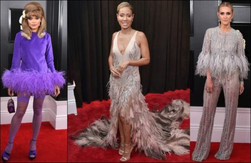 2019-Grammys-red-carpet-dresses-FEATHERS