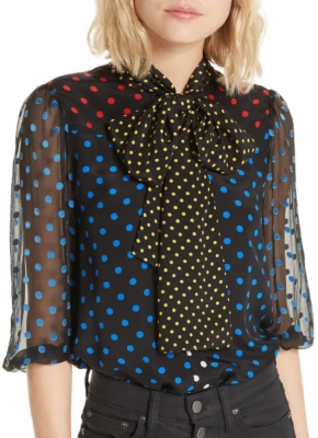 polka-dots-2019-SPRING-FASHION-TRENDS-blouse