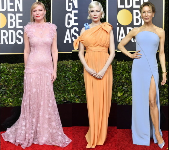 2020 Golden Globes red carpet dresses